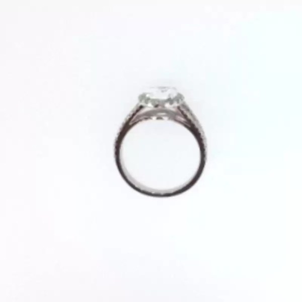 2.5 Carat Pear Cut Diamond Engagement Ring 18K White Gold 2