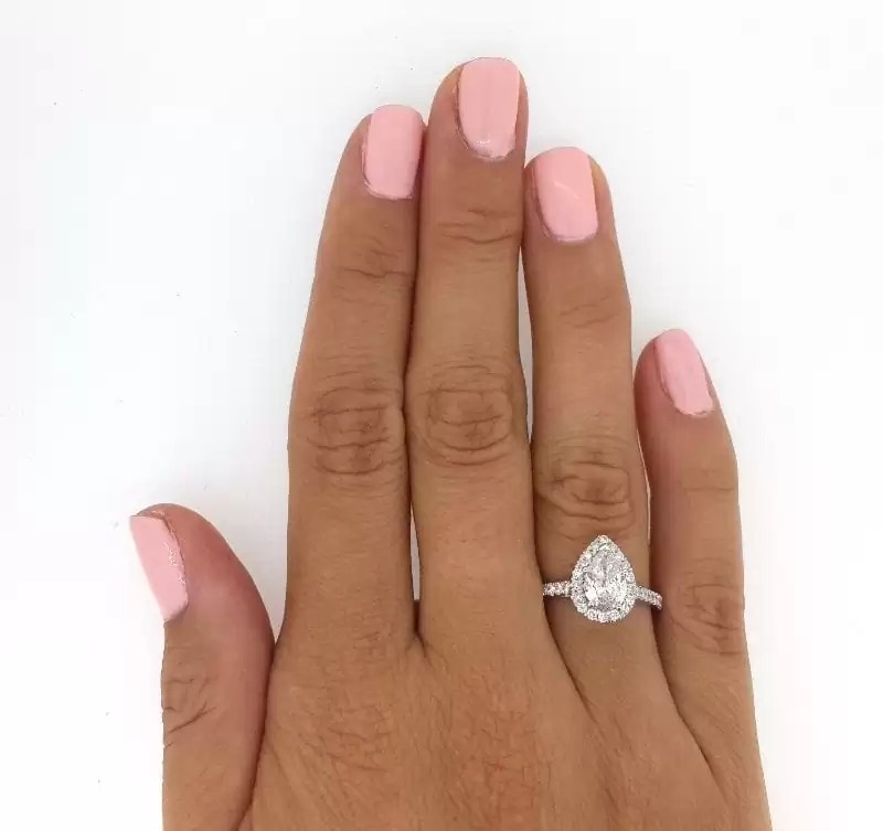 Carat Pear Shaped Diamond Hand 2 Ring