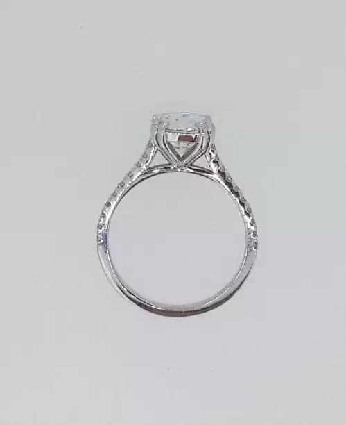 2.52 Ct Round Cut DSi1 Diamond Solitaire Engagement Ring 14K White Gold 4