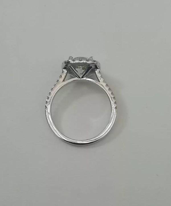 2.78 Carat Round Cut Diamond Engagement Ring 14K White Gold 4