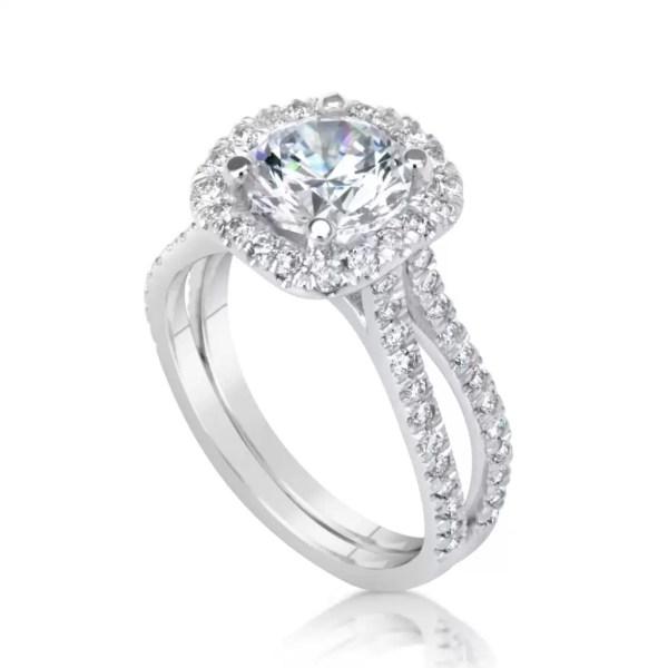 3 Ct Round Cut E/Vs2 Diamond Solitaire Engagement Ring 14K White Gold