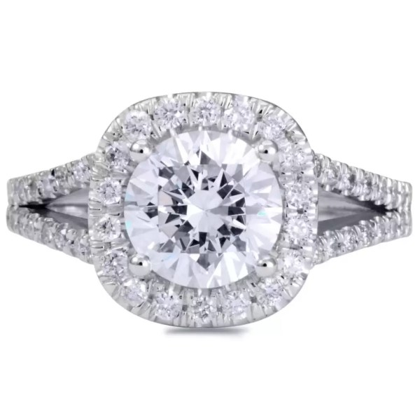 3.60 Ct Round Cut DVs2 Diamond Solitaire Engagement Ring 14K White Gold 2