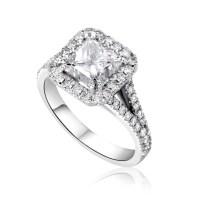 4 Carat Princess Cut Diamond Engagement Ring | Ara Diamonds