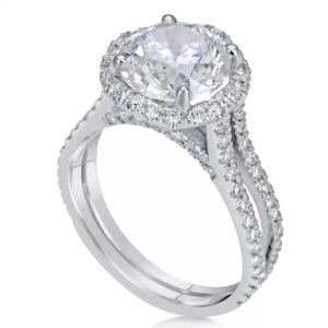 4.25 Ct Round Cut D/Vs2 Diamond Solitaire Engagement Ring 18K White Gold