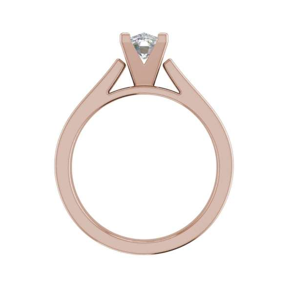 Cathedral 1.75 Carat VS2 Clarity H Color Oval Cut Diamond Engagement Ring Rose Gold 2