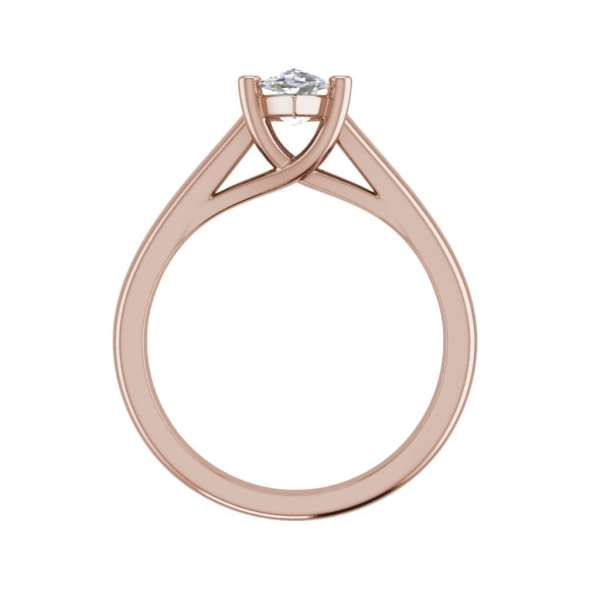 Solitaire 0.5 Carat VS2 Clarity H Color Marquise Cut Diamond Engagement Ring Rose Gold 2