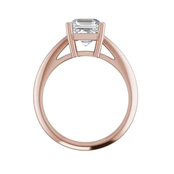 Solitaire 1.5 Carat VS1 Clarity F Color Cushion Cut Diamond Engagement Ring Rose Gold 2