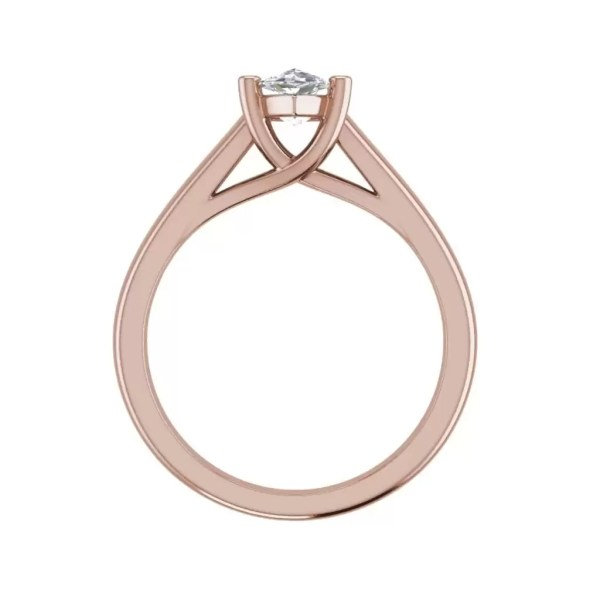 Solitaire 2.5 Carat SI1 Clarity F Color Marquise Cut Diamond Engagement Ring Rose Gold 2