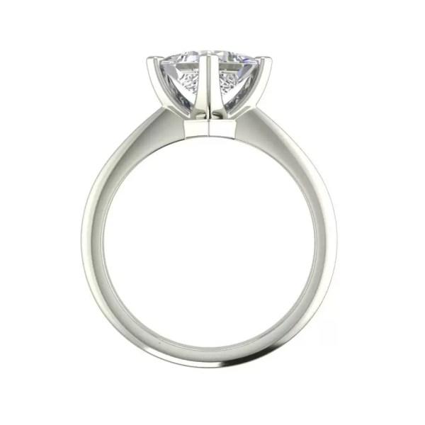 4 Prong 1 Carat VS2 Clarity D Color Princess Cut Diamond Engagement Ring White Gold 2