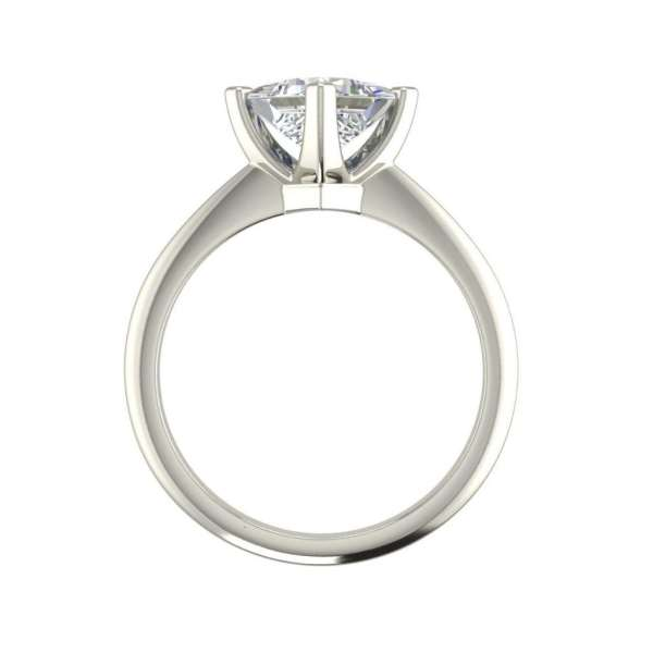 4 Prong 3 Carat SI1 Clarity D Color Princess Cut Diamond Engagement Ring White Gold 2