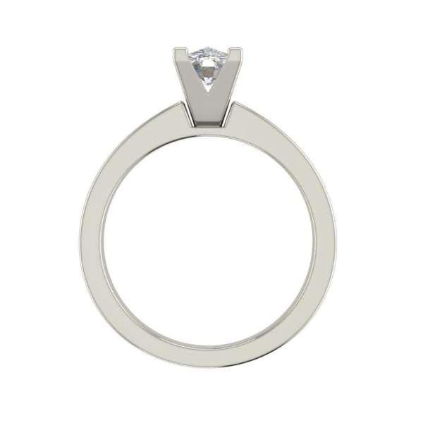 Channel Set 3.45 Carat VS2 Clarity D Color Oval Cut Diamond Engagement Ring White Gold 2