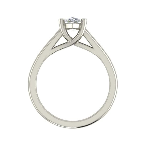 Solitaire 2.5 Carat SI1 Clarity F Color Marquise Cut Diamond Engagement Ring White Gold 2