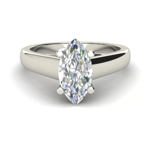 Solitaire 2.5 Carat VS2 Clarity D Color Marquise Cut Diamond Engagement Ring White Gold 3