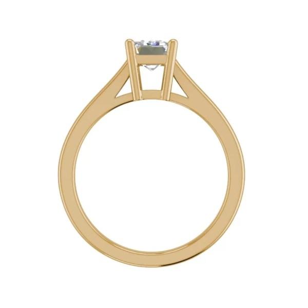 4 Prong 2.25 Carat VS2 Clarity D Color Emerald Cut Diamond Engagement Ring Yellow Gold 2
