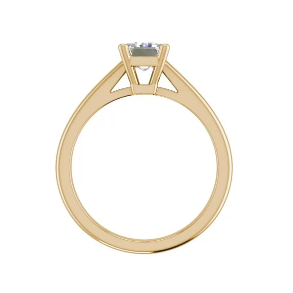 Solitaire 1.75 Carat VS2 Clarity F Color Emerald Cut Diamond Engagement Ring Yellow Gold 2