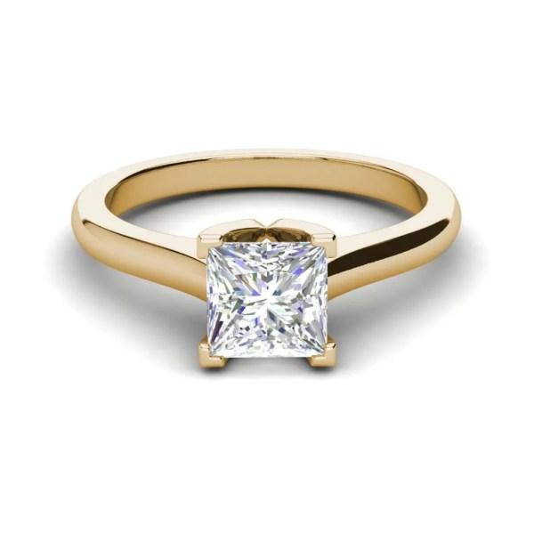 Solitaire 2.5 Carat Vvs1 Princess Cut Diamond Engagement Ring