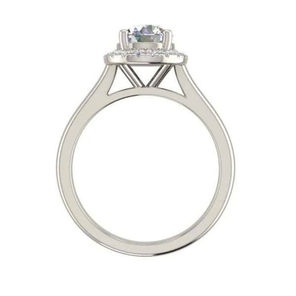 1.15 Carat Halo Solitaire Round Cut Diamond Engagement Ring 1