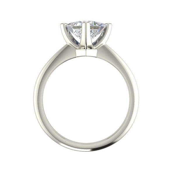 4 Prong 0.5 Carat Princess Cut Diamond Engagement Ring