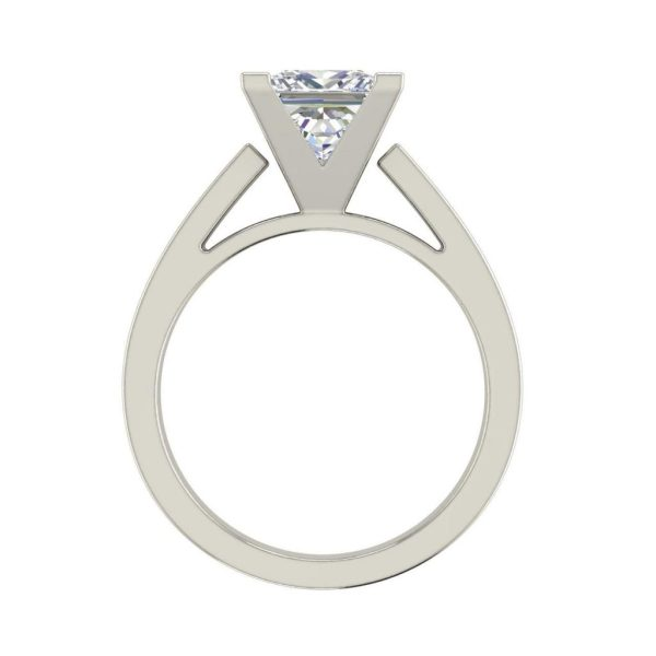 Cathedral 0.5 Carat Princess Cut Diamond Engagement Ring