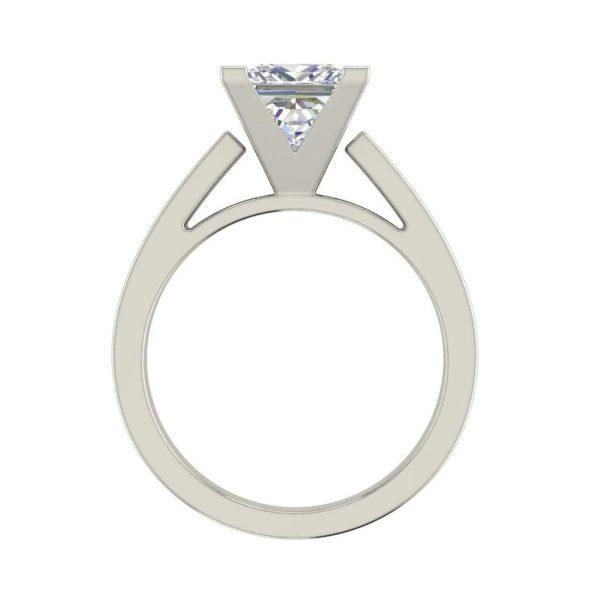 Cathedral 0.5 Carat Princess Cut Diamond Ring White Gold