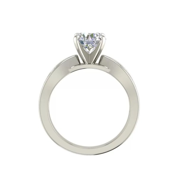Channel Style 0.7 Carat Round Cut Diamond Engagement Ring