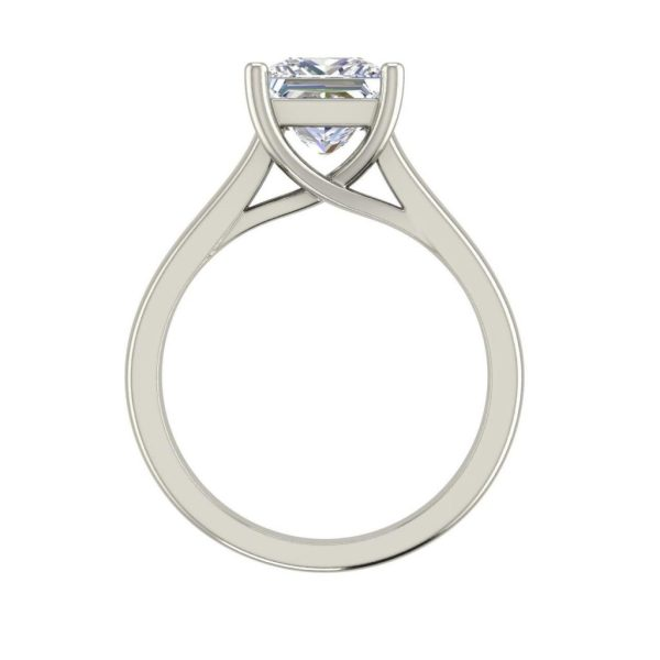 Solitaire 0.5 Carat Princess Cut Diamond Ring White Gold