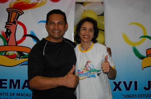 Secretário-adjunto da educação, Dinarte Alessandro e Magnólia Figueiredo