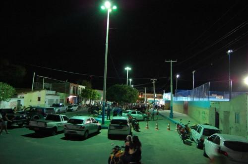 Nova iluminação o entorno do estádio