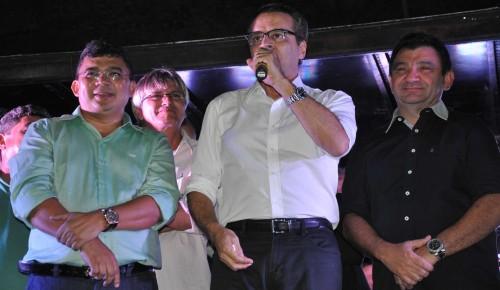 Kerginaldo, Henrique e o ex-prefeito Flávio Veras