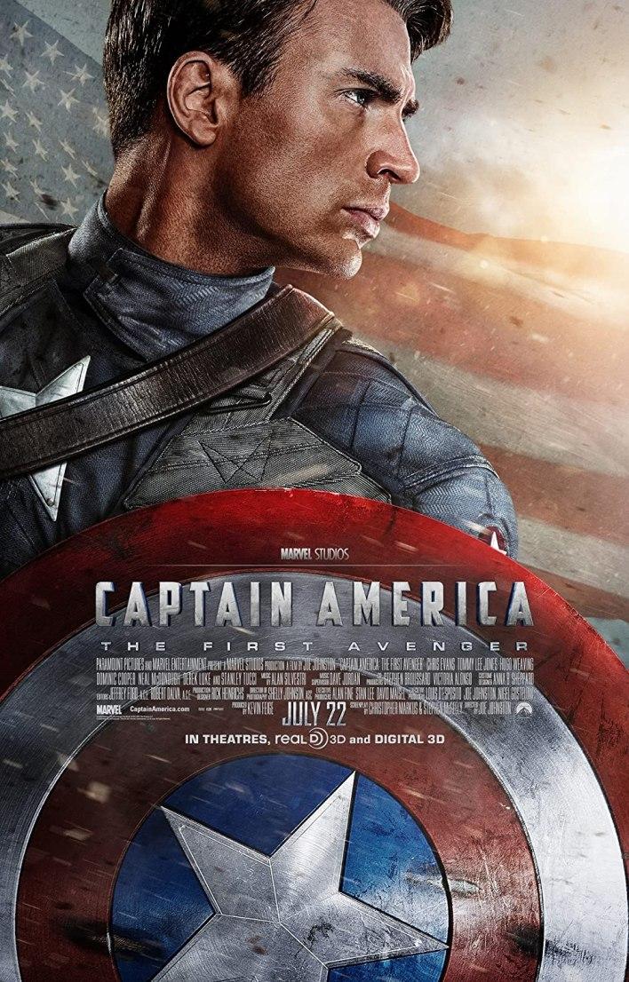 بوستر الفيلم الرابع من ترتيب أفلام مارفل Captain America: first avenger
