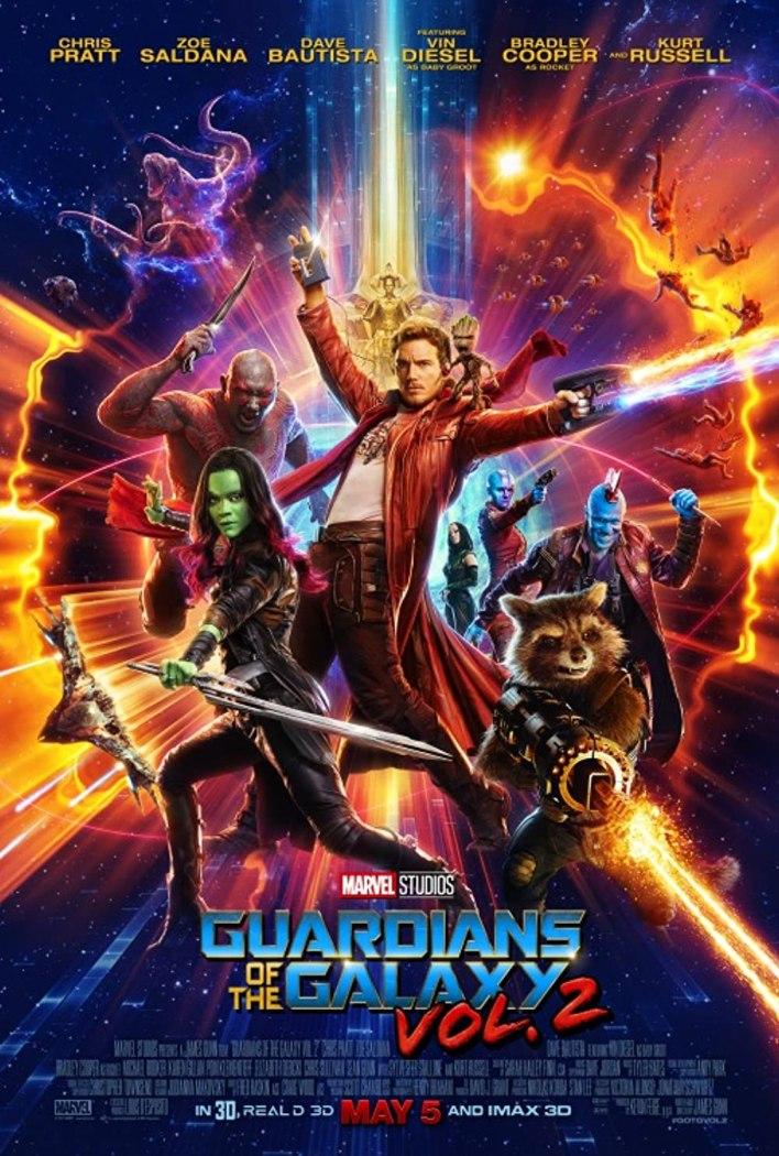 بوستر Guardians of the galaxy 2 ترتيبه الخامس عشر في ترتيب أفلام مارفل