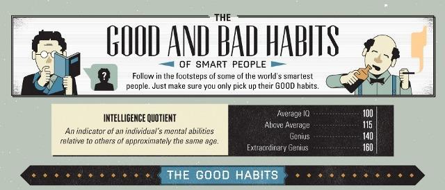 habits worlds smartest people1 عادات أذكى الشخصيات في العالم   انفوغرافيك