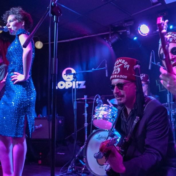 Esther y Los twang en la Sala López el 28 de enero de 2017. Por Ángel Burbano
