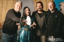 Kase.O, Virginia Martínez, Joaquín Cardiel y Santi Rex. Foto, Jal Lux