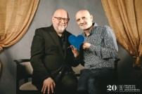 Antón Castro y Miguel Mena. Foto, Jal Lux