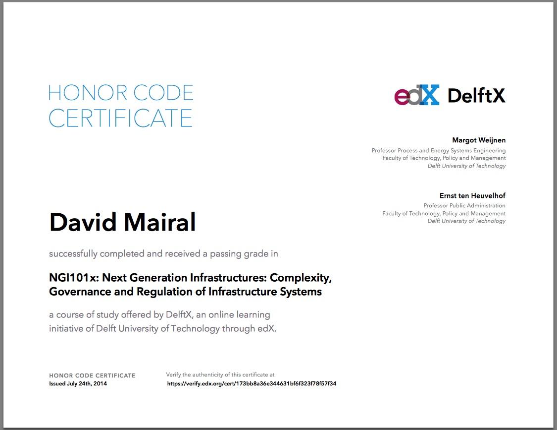 Mi primer certificado por un curso universitario en Internet (MooC ...