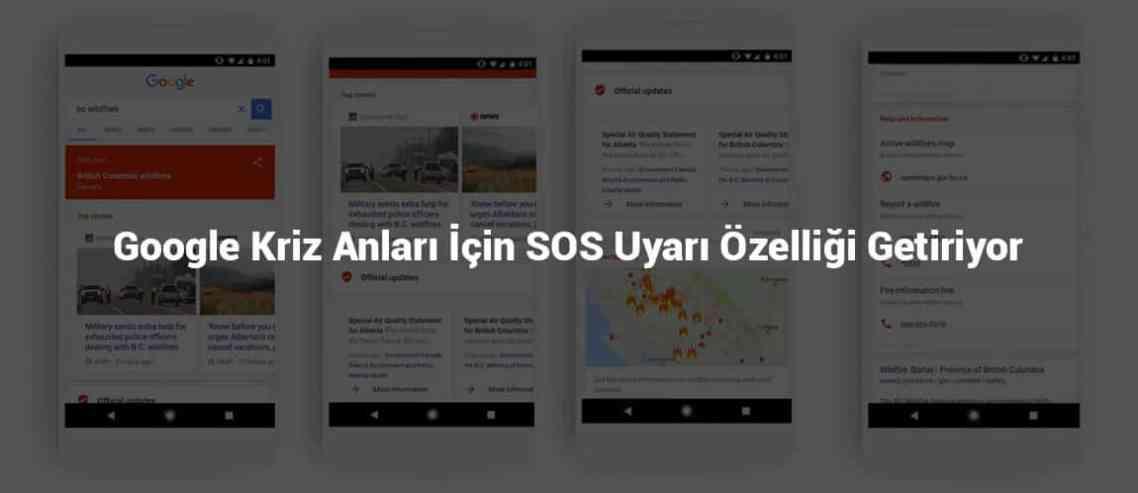 Google SOS Uyarı Özelliği