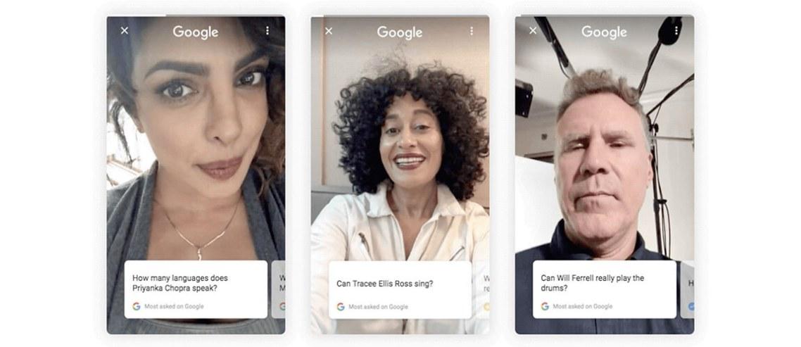Google, Ünlülerin Soru & Cevap Videolarını Arama Sonuçlarına Getirdi