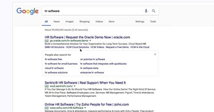 Google Arama Reklamlarına Benzer Aramalar Özelliği Eklendi