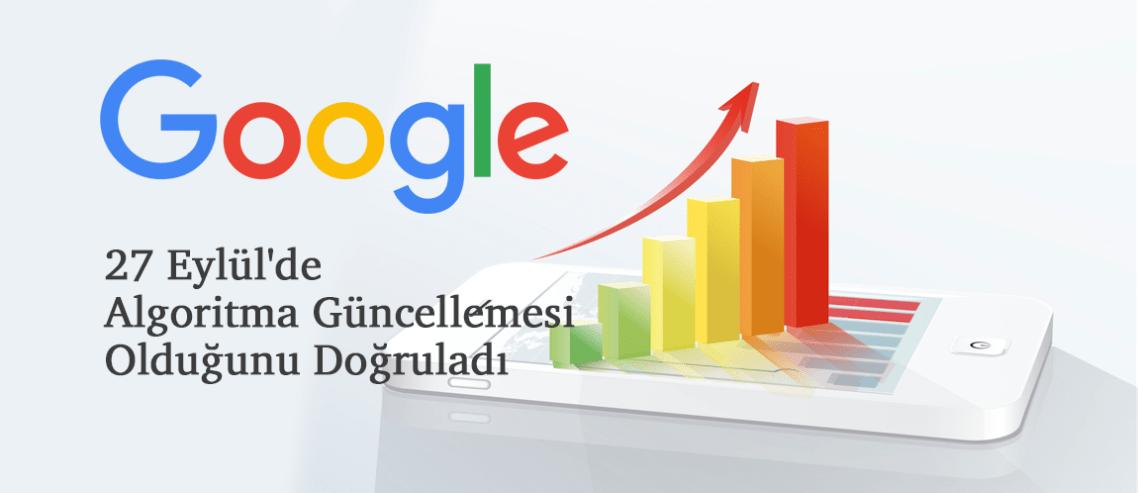 Google, 27 Eylül'de Algoritma Güncellemesi