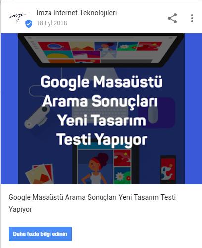 Google My Business Örnek Yayın