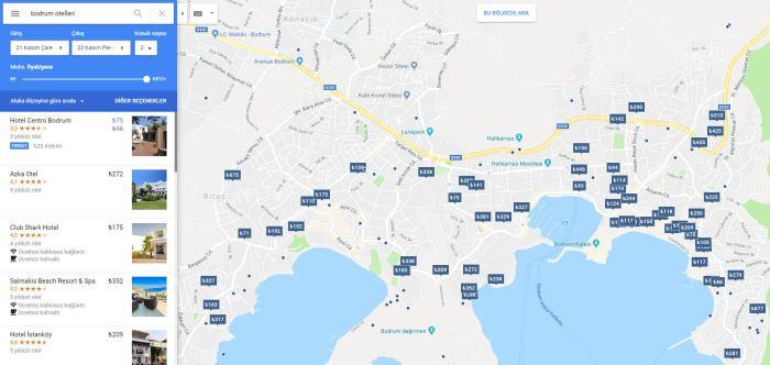 Otel İşletmeleri İçin Google Haritalar