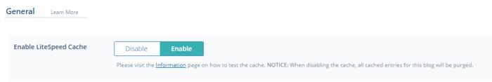Wordpress LiteSpeed Cache Ayarları
