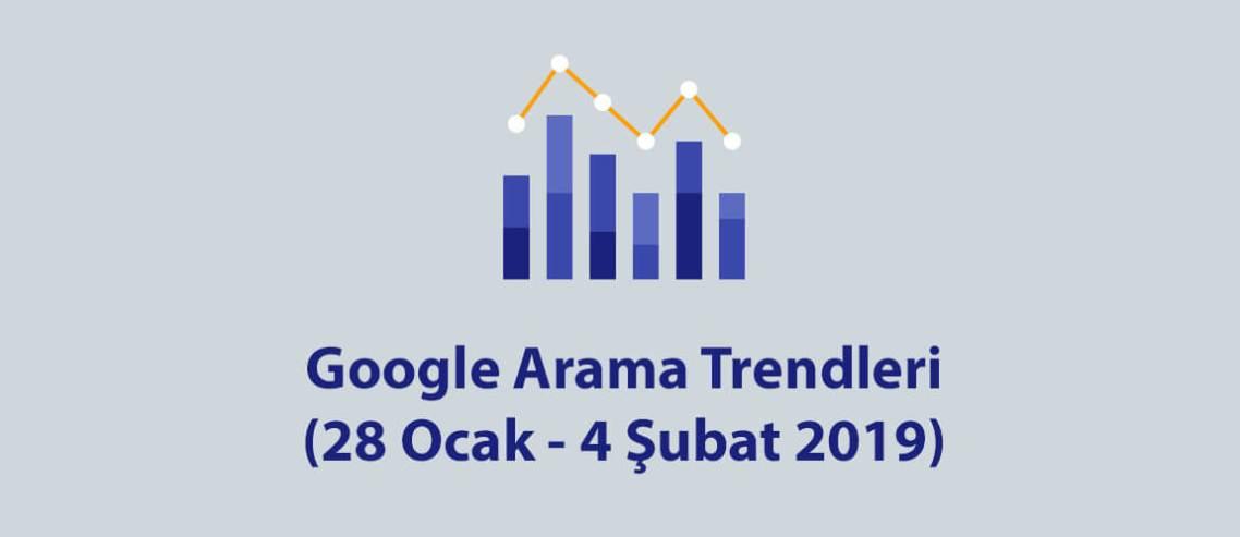 Google Arama Trendleri 28 Ocak - 4 Şubat 2019