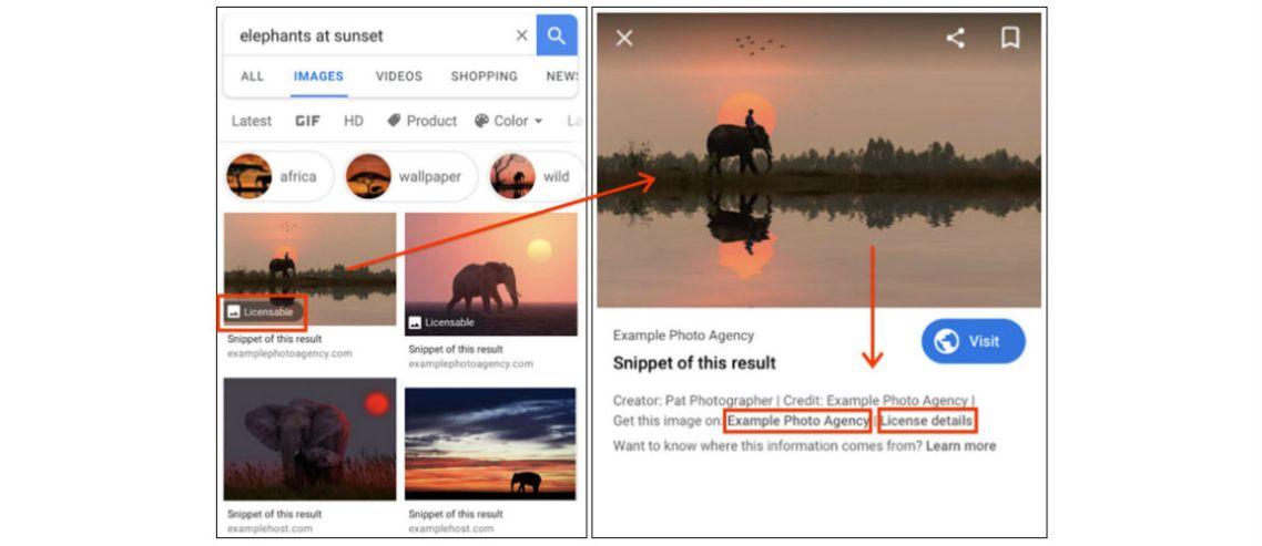 Google Görseller'de lisans bilgisi gösterilmeye başlıyor