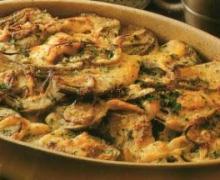 Gratin di patate, carciofi e melanzane