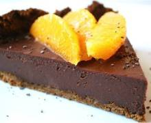 Cheescake al cioccolato e arancia