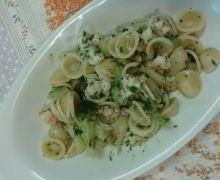 Orecchiette con broccoli e gamberoni