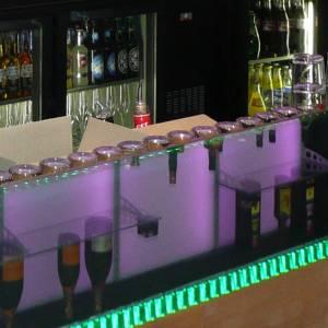 Plateau lumineux en verre sécurit