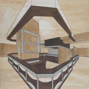 Perspective comptoir 1970